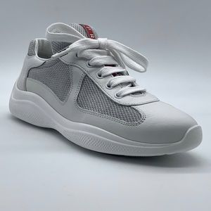 PRADA  Leather & Mesh Sneaker ( Unmatched Model)
